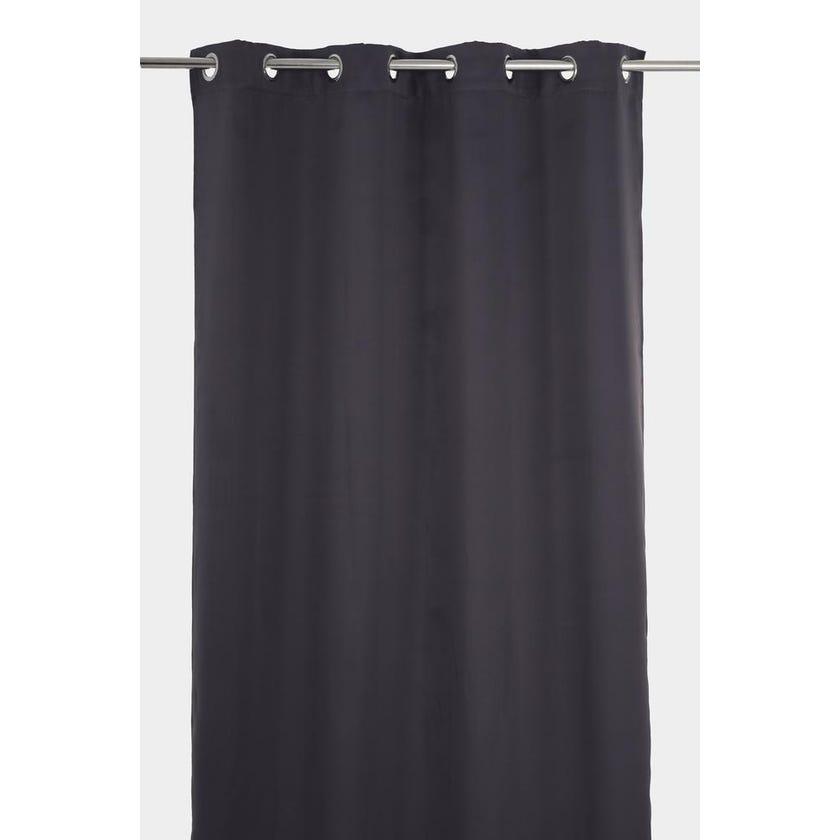 Stella Fabric Curtain, 300 x 140 cms, Dark Grey