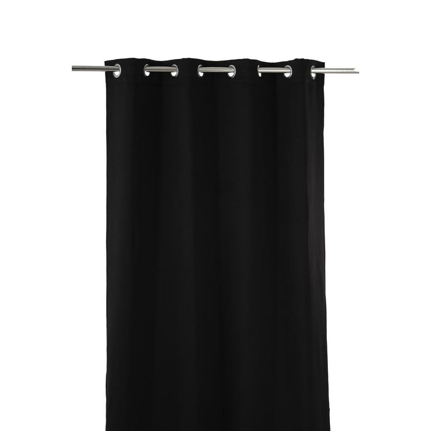 Stella Fabric Curtain, 300 x 140 cms, Black