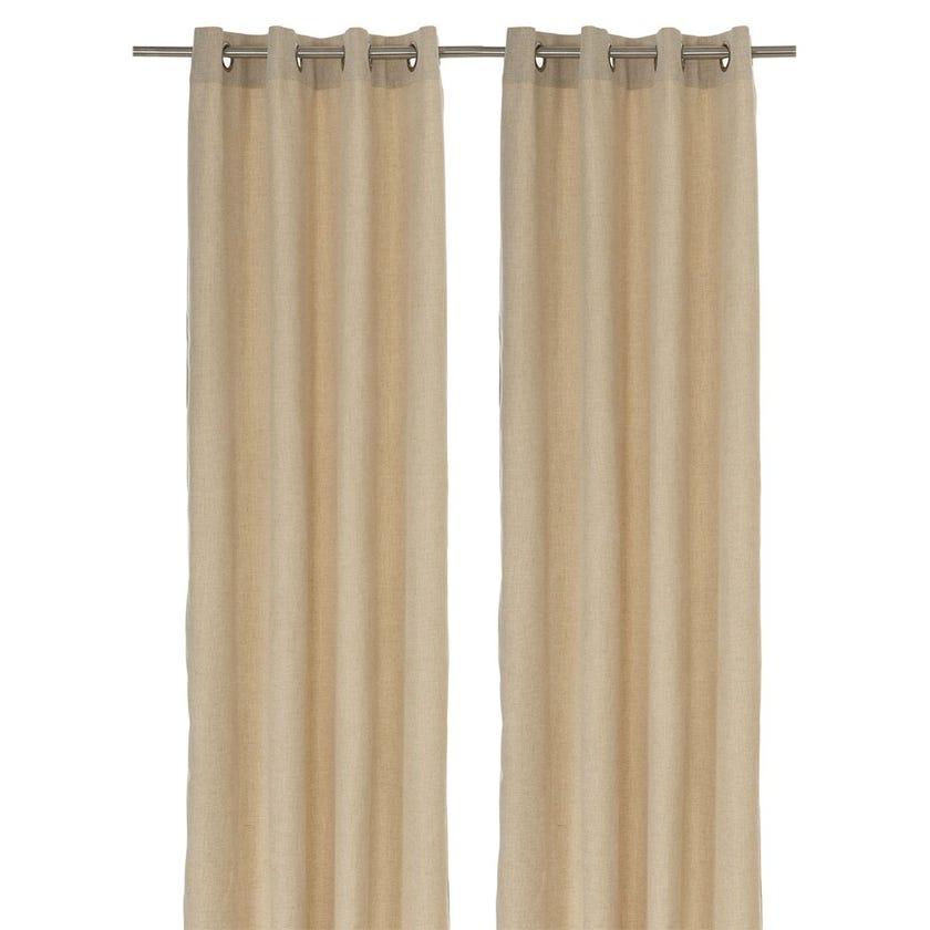 Chenille Curtain, 240 X 140 cms, Natural