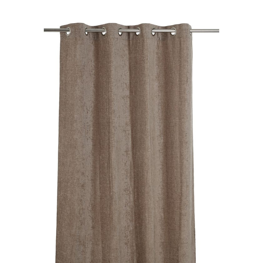 Chenille Curtain, 300 X 140 cms, Taupe