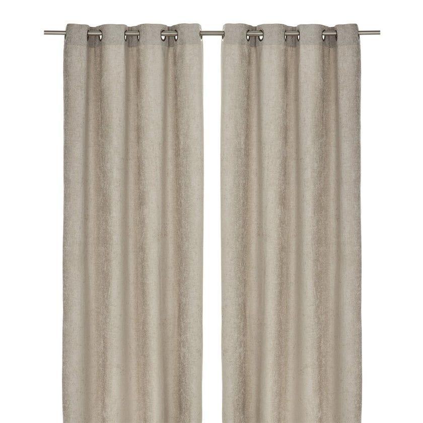 Chenille Curtain, 240 X 140 cms, Silver