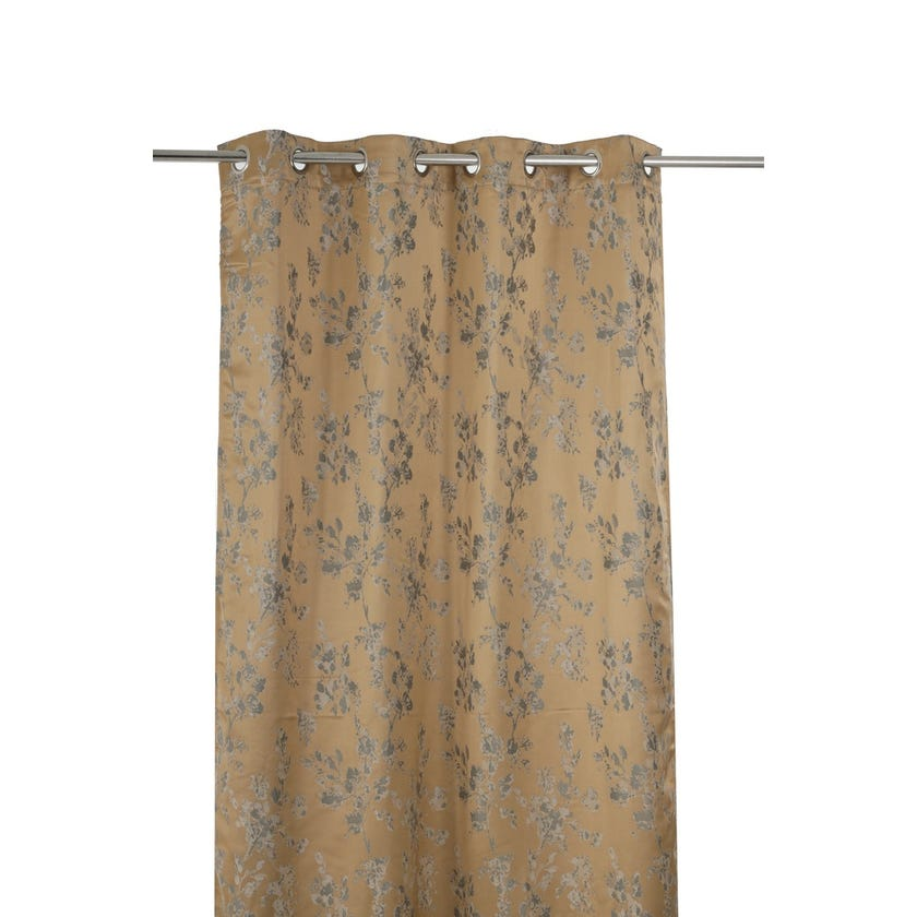 Watercolour Curtain, 240 X 135 cms, Biscuit