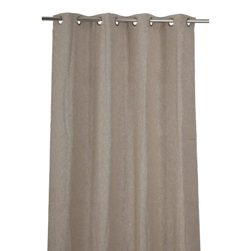 Eclipse Polyester Grommet Curtain, 140 x 300 cms, Beige