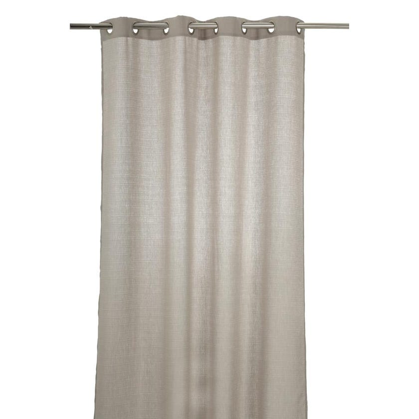 Sequin Polyester Grommet Curtain, 140 x 300 cms, Grey