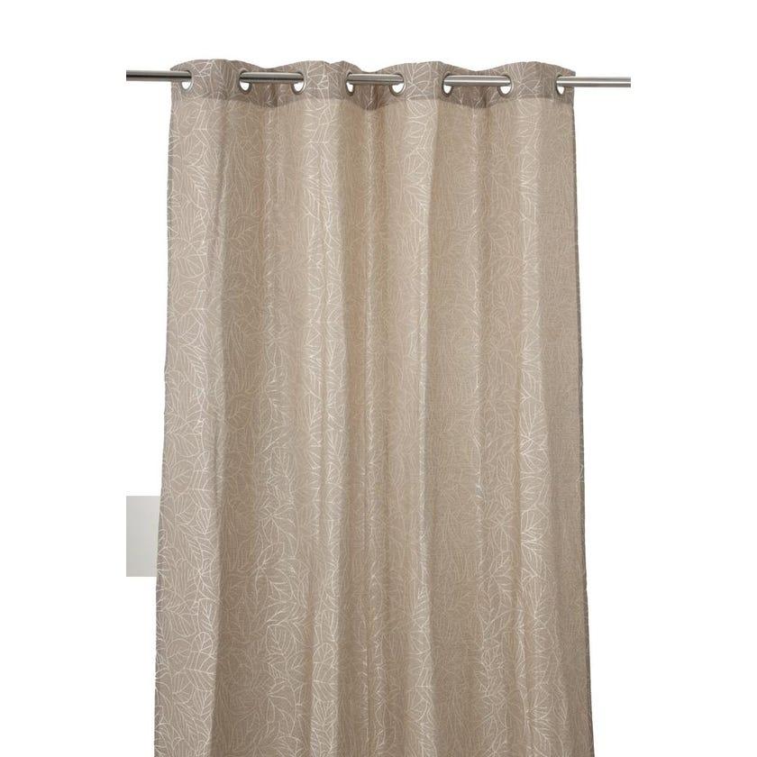 Soho Polyester Grommet Curtain, 140 x 240 cms, Beige