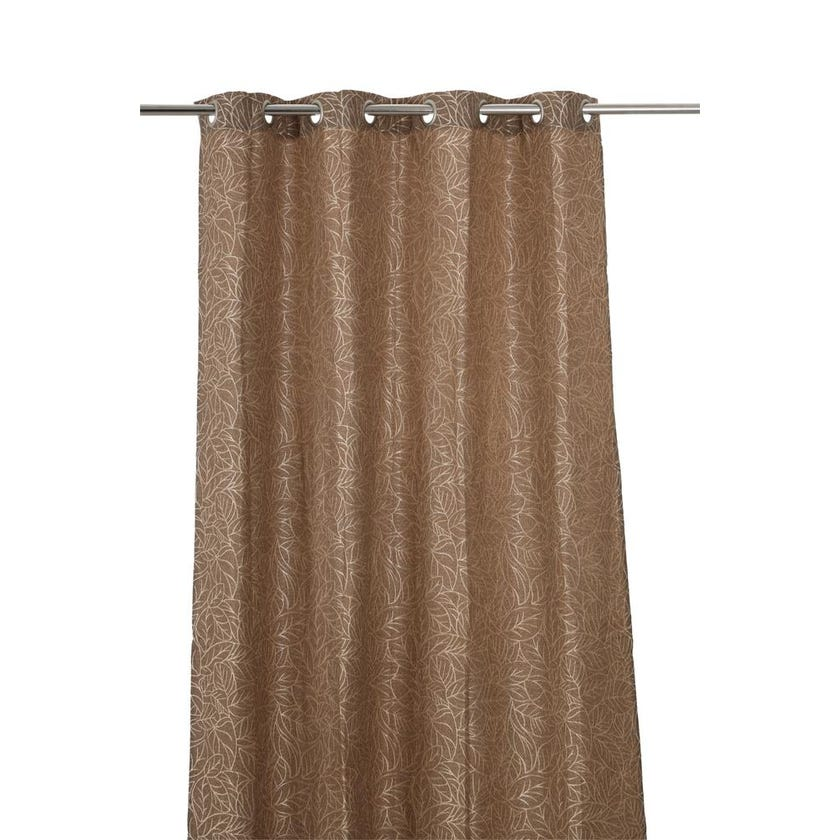 Soho Polyester Grommet Curtain, 140 x 240 cms, Brown