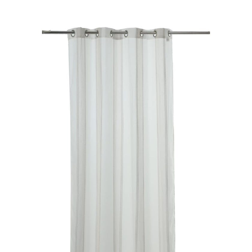 Solace Polyester Grommet Curtain, 140 x 300 cms, Beige