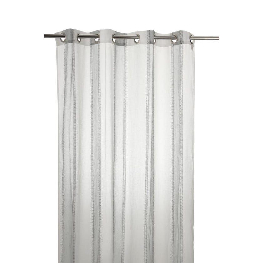 Solace Polyester Grommet Curtain, 140 x 300 cms, Grey