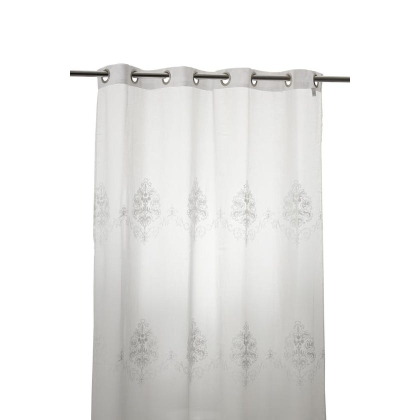Cleopatra Polyester Grommet Curtain, 140 x 240 cms, White