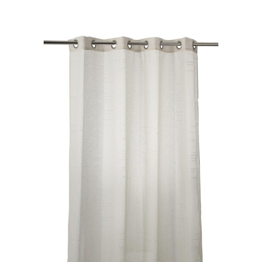 Norton Polyester Grommet Curtain, 140 x 240 cms, Beige