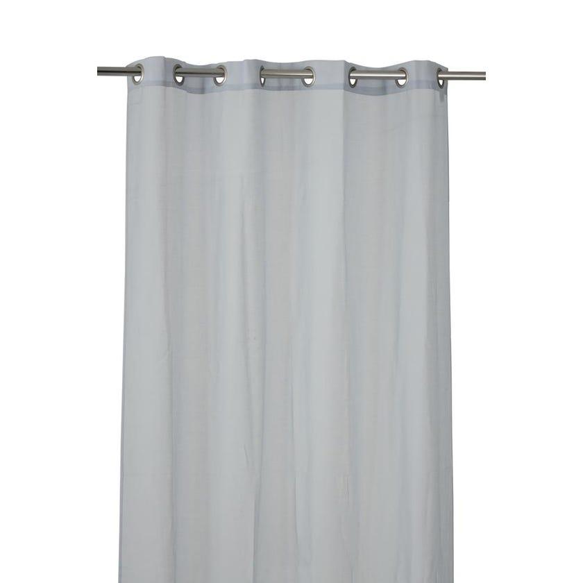 Optical Polyester Grommet Curtain, 140 x 300 cms, Grey