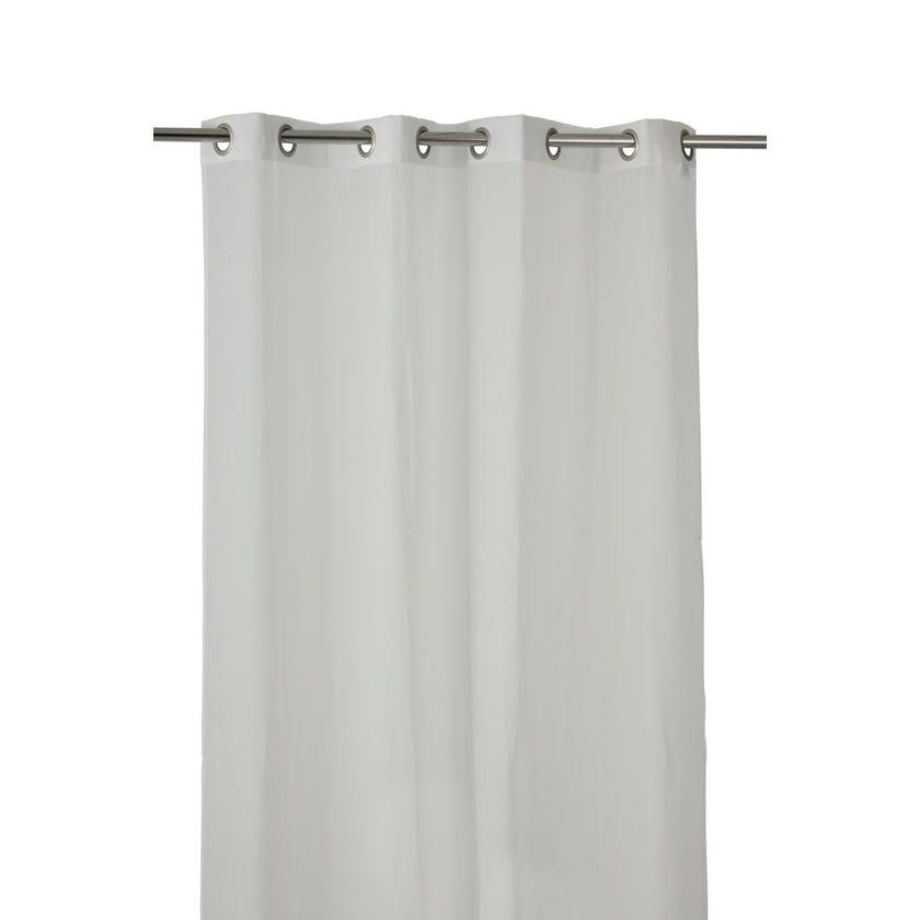 Mia Polyester Grommet Curtain, 140 x 300 cms, White