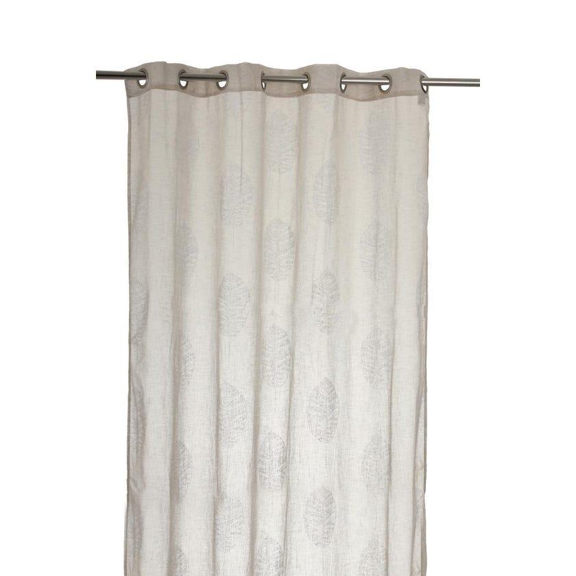 Plazasher Polyester Grommet Curtain, 140 x 300 cms, Ivory