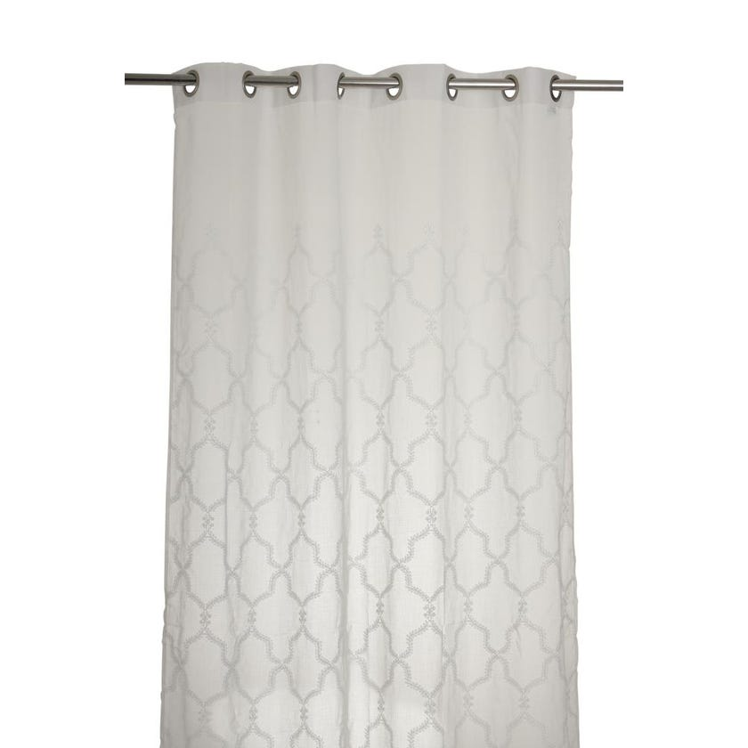 Arlo Polyester Grommet Curtain, 140 x 240 cms, White