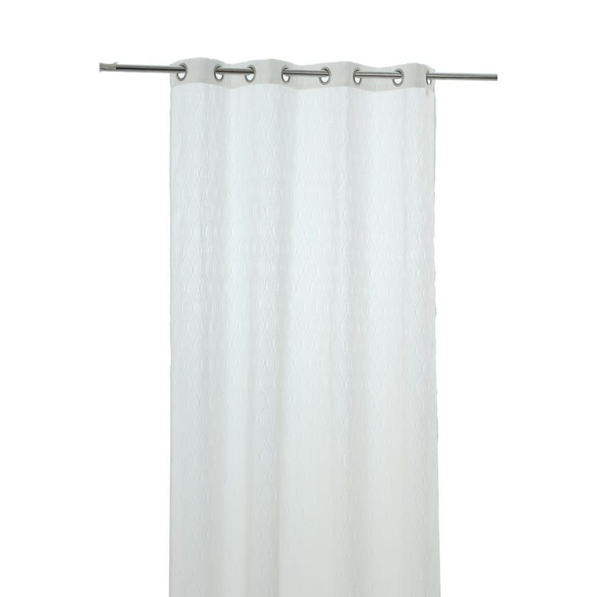 Vermonth Polyester Grommet Curtain, 140 x 300 cms, White