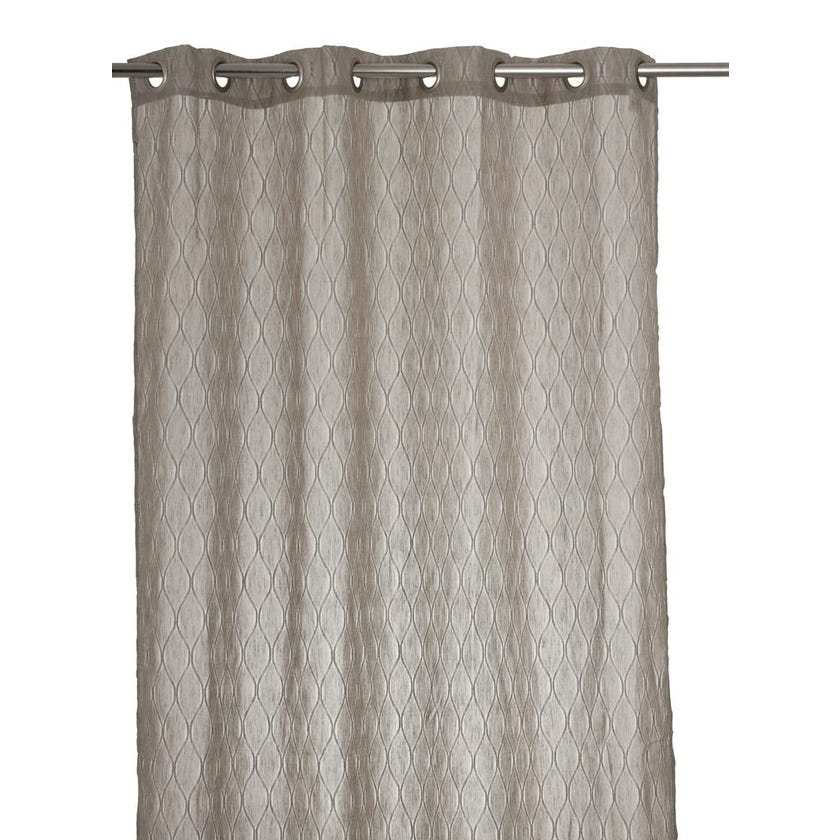 Vermonth Polyester Grommet Curtain, 140 x 300 cms, Taupe
