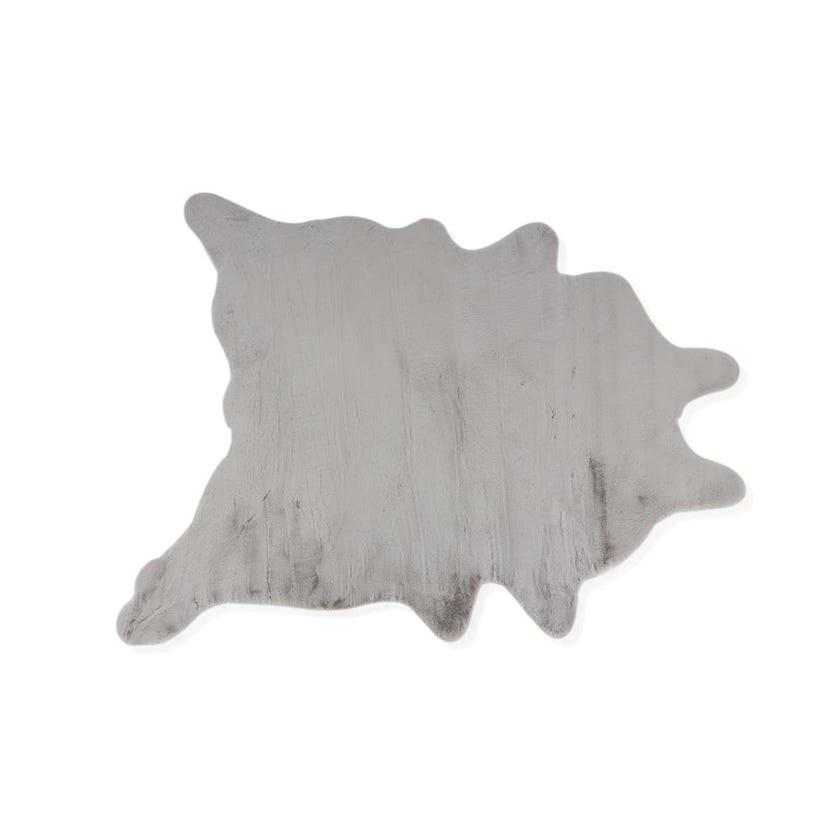 Faux Rabbit Fur Rug - Light Grey, 200 x 160 cms