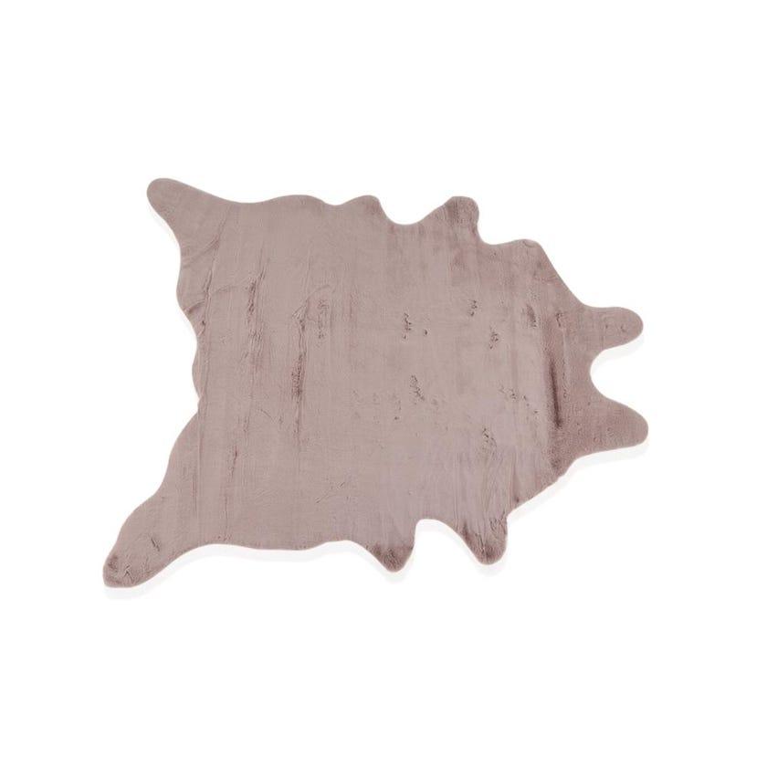 Faux Rabbit Fur Rug - Pink, 200 x 160 cms