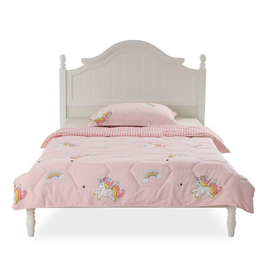 Fly Unicorn Kids Comforter Set, Pink – 200x150 cms
