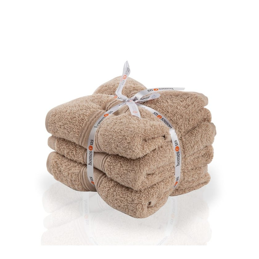 Chroma 3-Piece Cotton Hand Towel Set, Linen - 40 x 60 cms