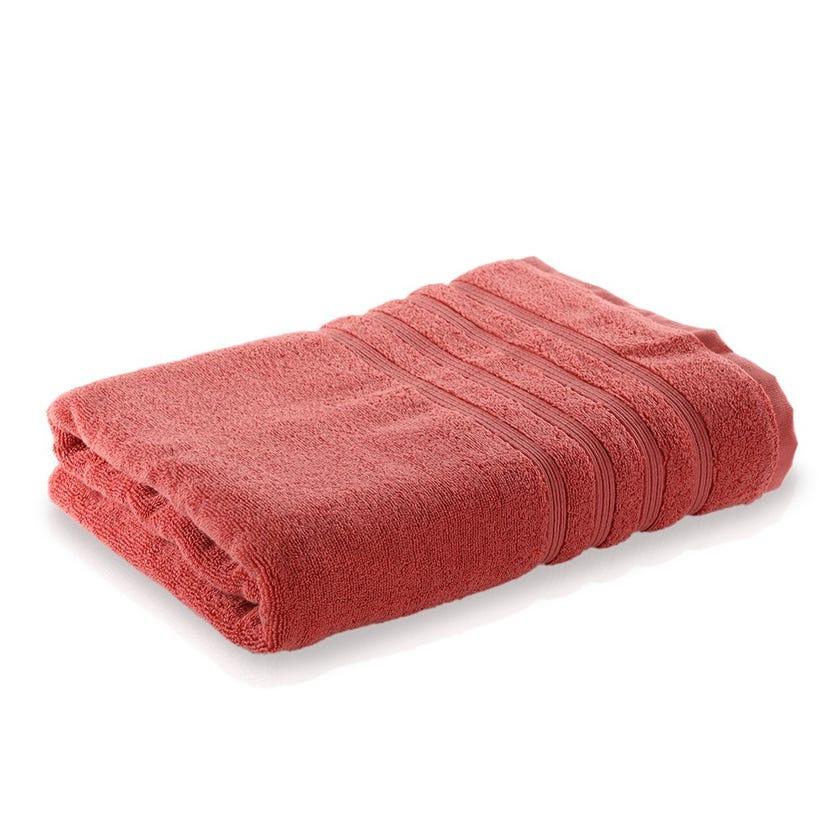 Ritzy Cotton Bath Sheet, Coral - 90 x 150 cms