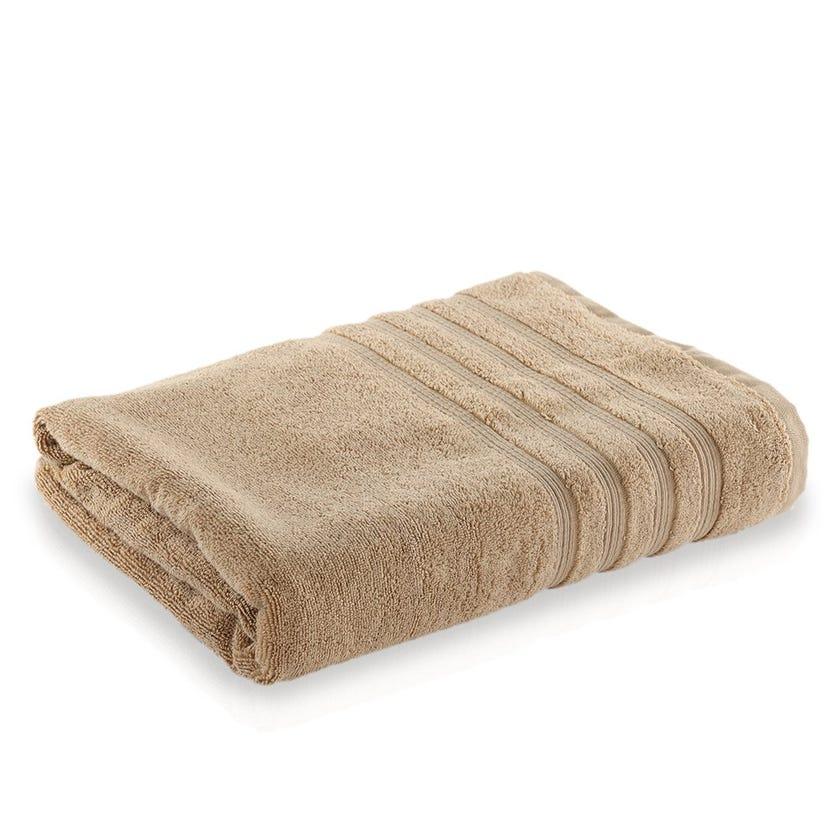 Ritzy Cotton Bath Sheet, Beige - 90x150 cms