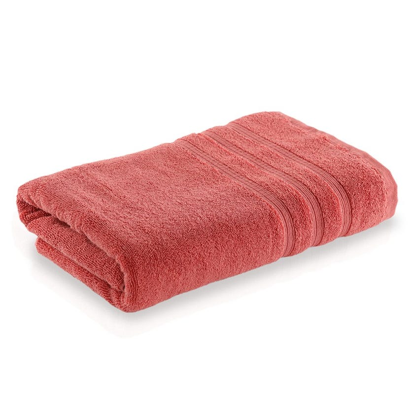 Ritzy Cotton Bath Sheet, Coral - 70 x 140 cms