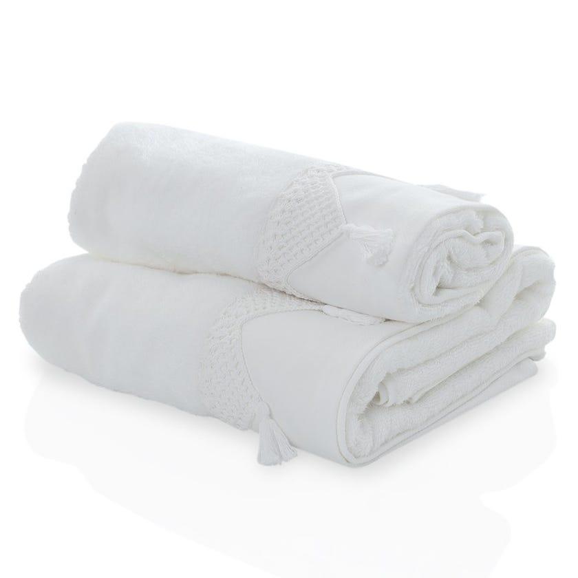 Madie Bath Towels Gift Box Set, White