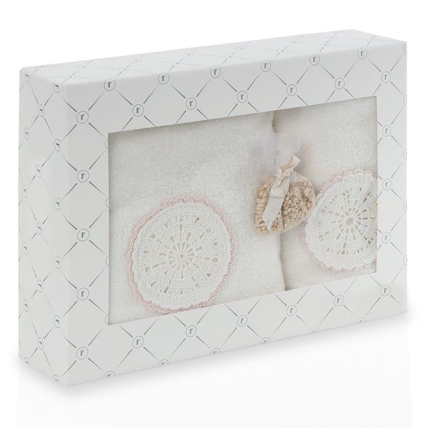 Gaia Bath Towels Gift Box Set, Cream