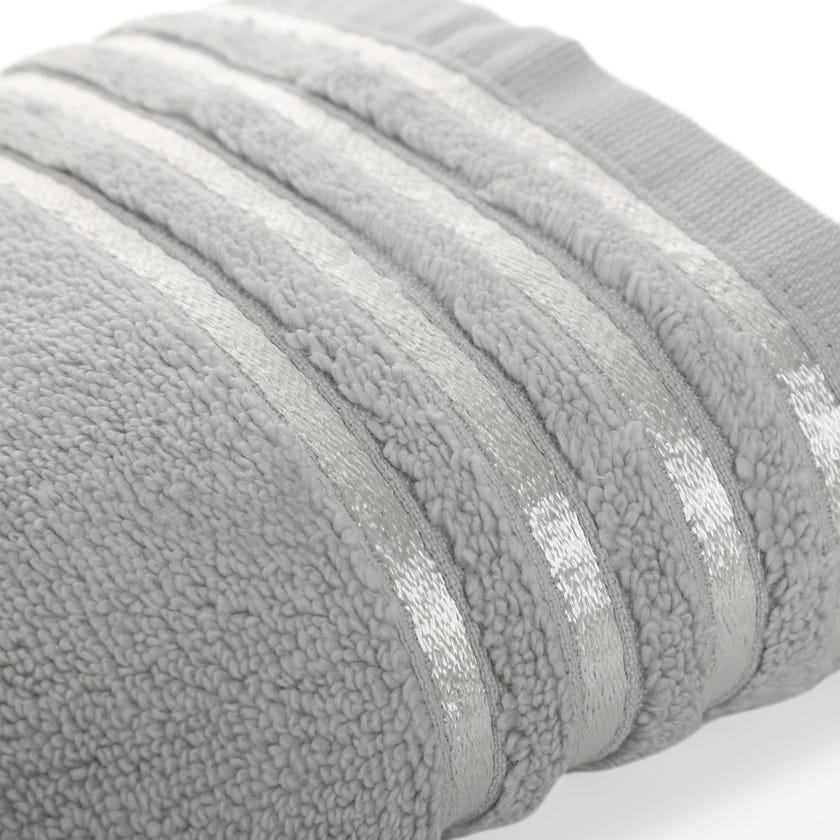 Hand Towel, Grey and Silver - 80x50 cms
