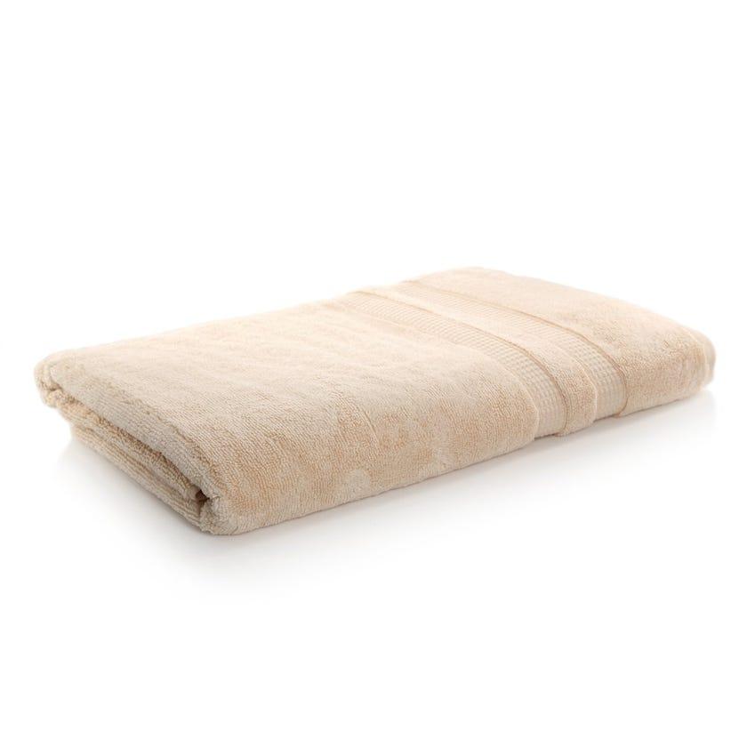 Bamboo Zero Twist Bath Sheet, Custard – 160x80 cms