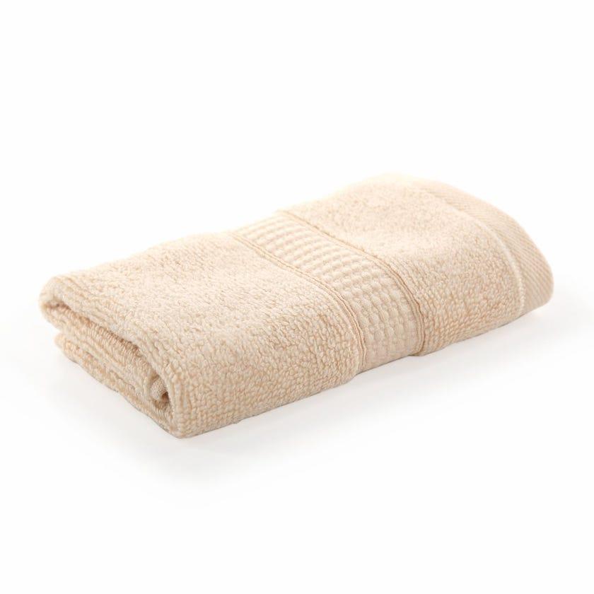 Bamboo Zero Twist Face Towel, Custard – 30x30 cms