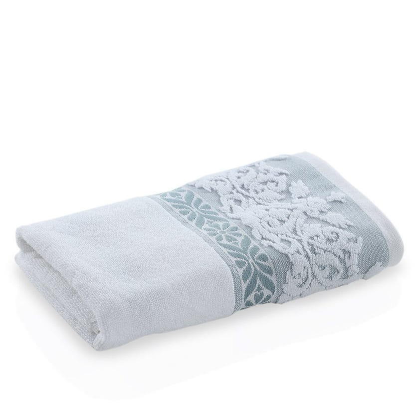 Marmaris Hand Towel, White and Blue