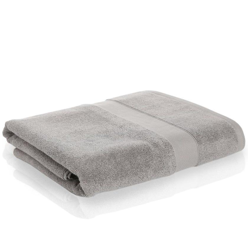 Supima Cotton Bath Sheet, Grey, 90 x 150 cms