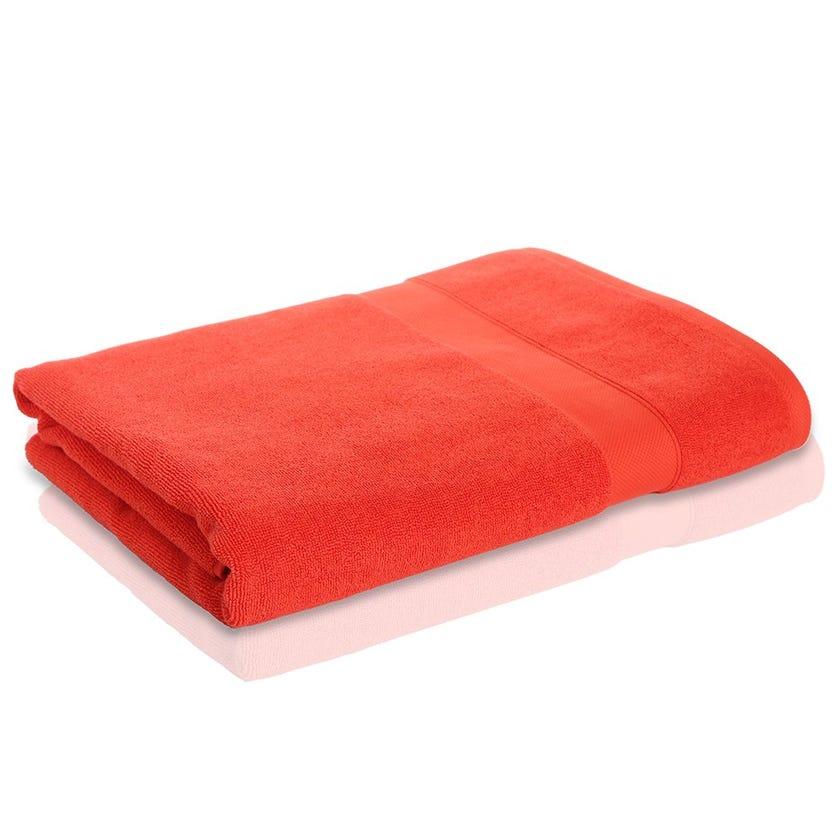 Supima Cotton Bath Sheet, Orange, 90 x 150 cms