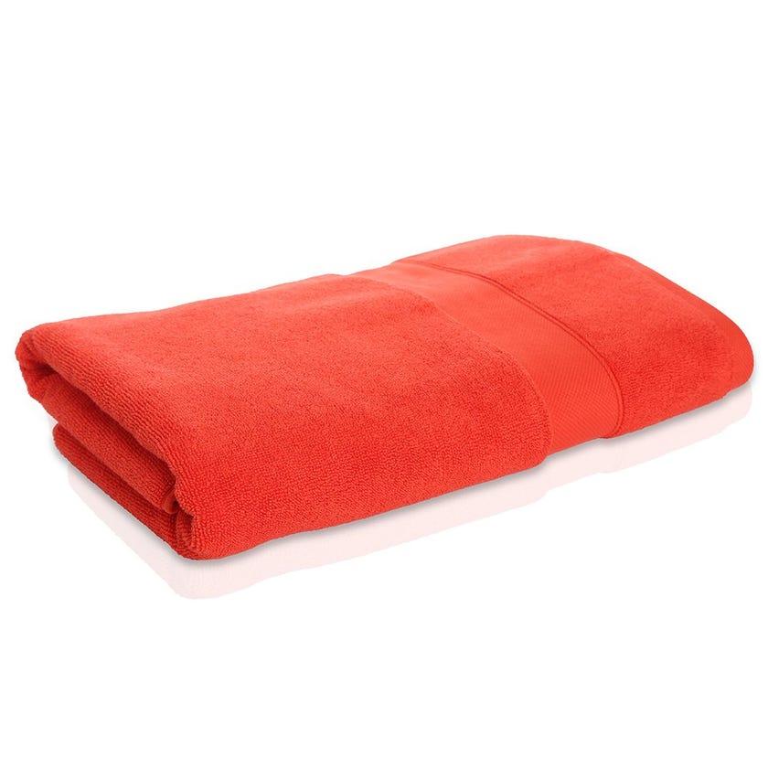 Supima Cotton Bath Sheet, Orange, 70 x 140 cms