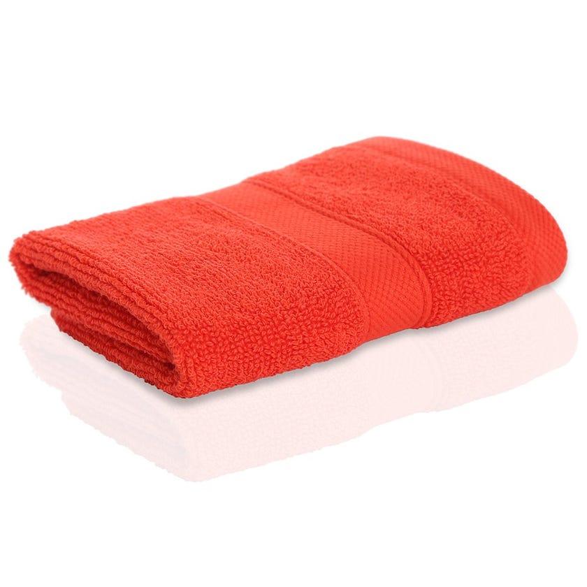 Supima Face Towel Sheet, Orange, 30 x 30 cms