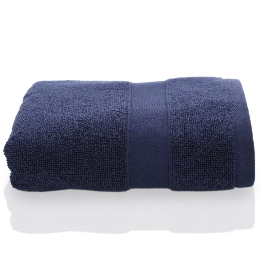 Supima Hand Towel Sheet, Navy, 50 x 80 cms