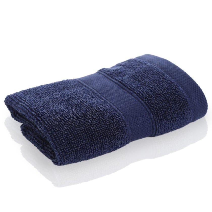 Supima Face Towel Sheet, Navy, 30 x 30 cms
