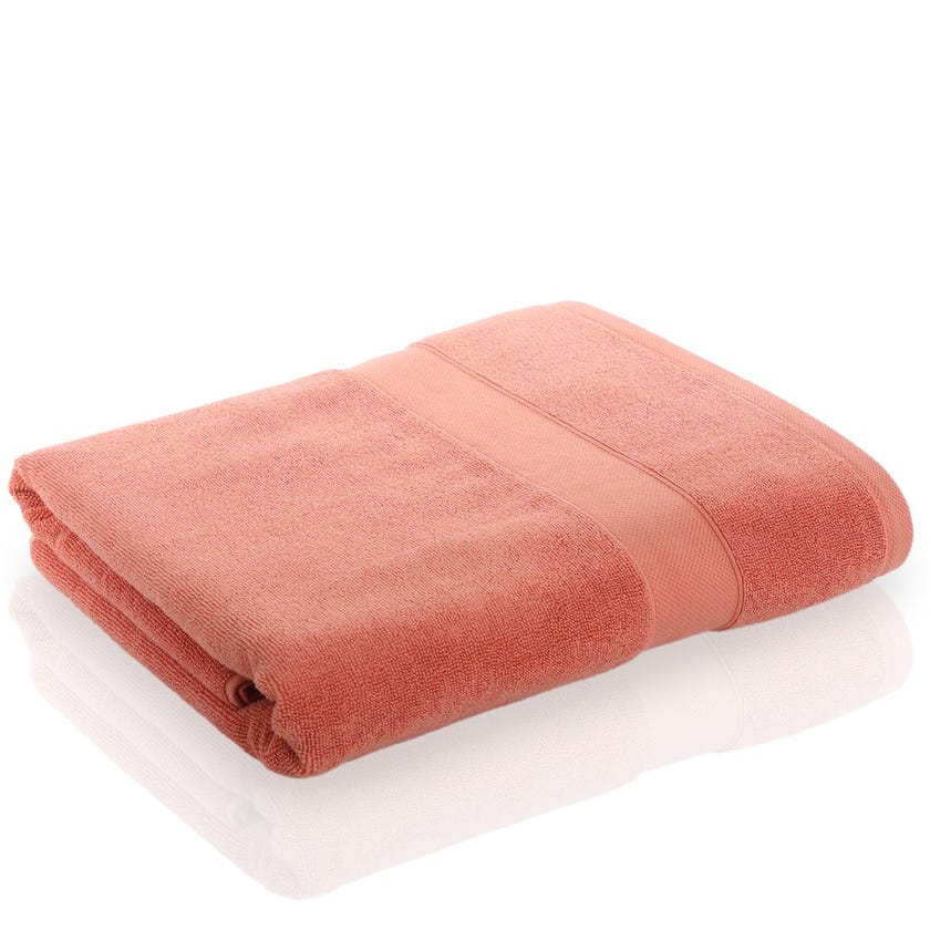 Supima Cotton Bath Sheet, Coral, 90 x 150 cms