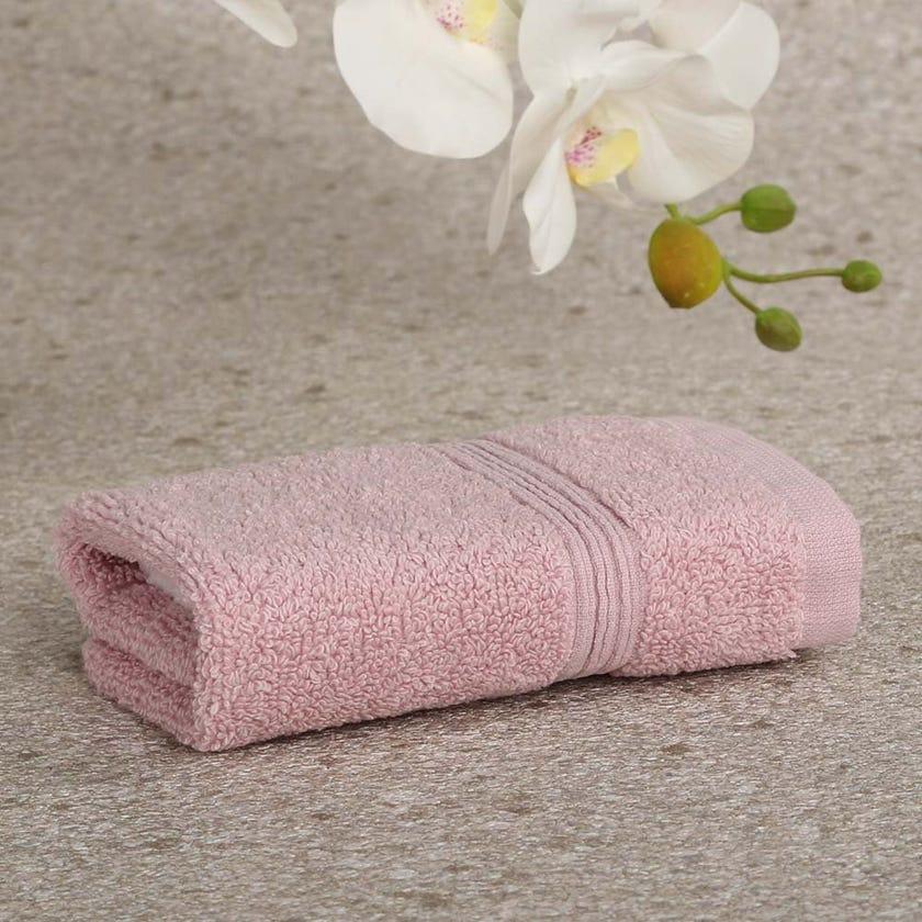 Ritzy Cotton Face Towel, Pink - 30x30 cms