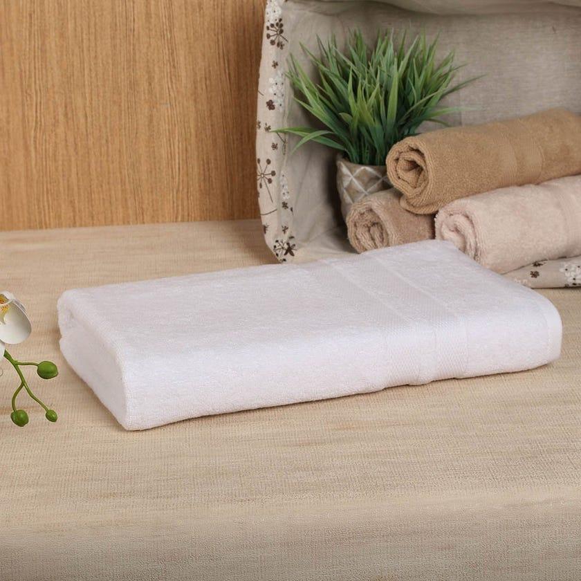 Antibacterial Bath Sheet, White – 160x80 cms