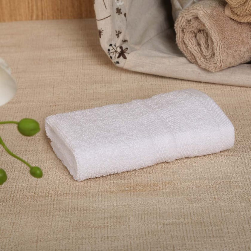 Antibacterial Face Towel, White – 30x30 cms