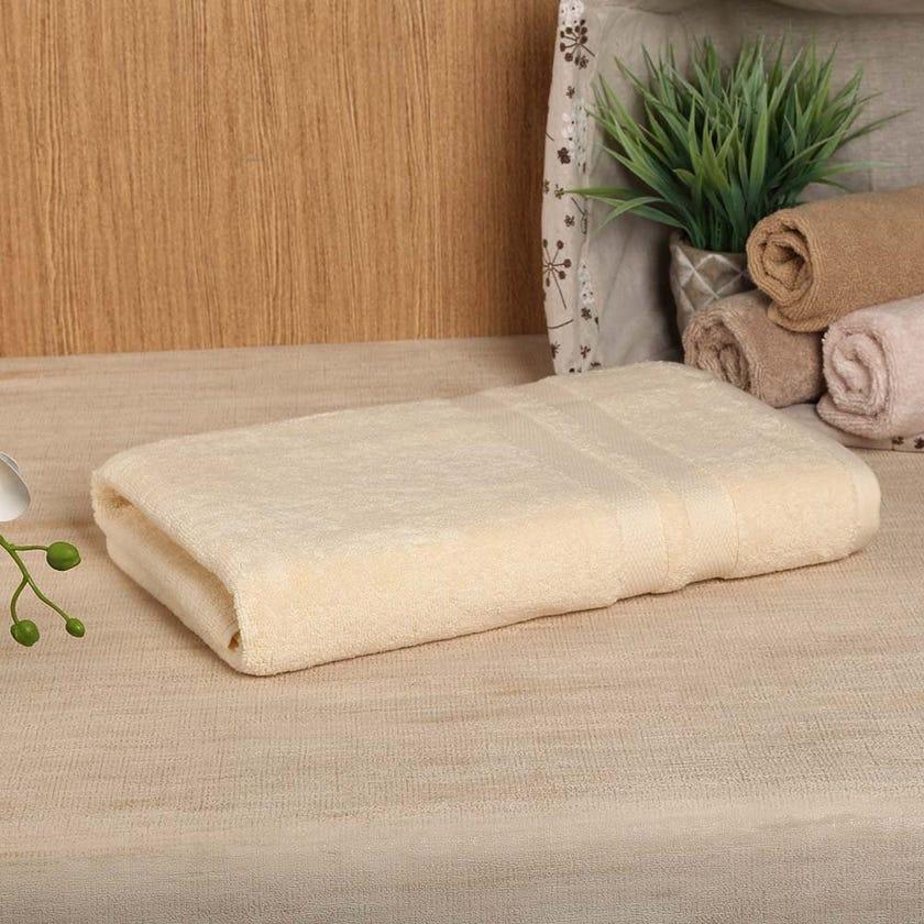 Antibacterial Bath Sheet, Cream – 160x80 cms