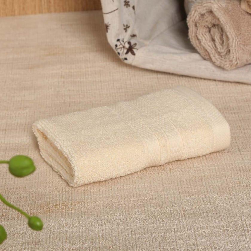 Antibacterial Face Towel, Cream – 30x30 cms