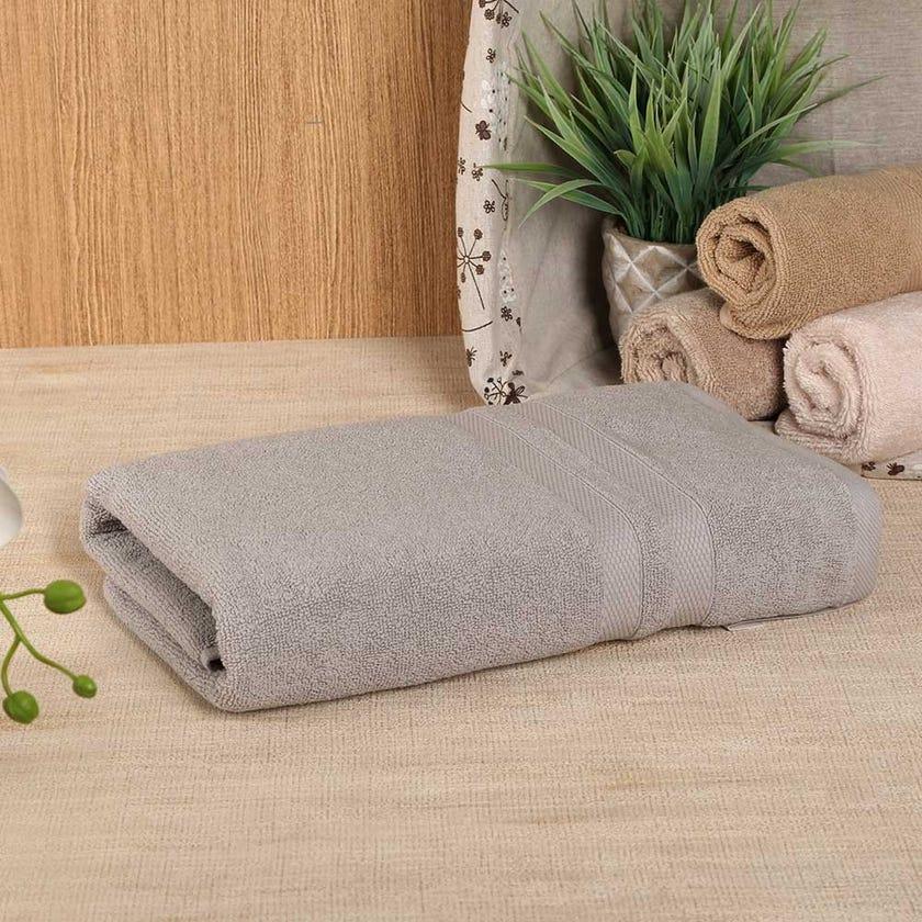 Antibacterial Bath Towel, Grey – 135x65 cms