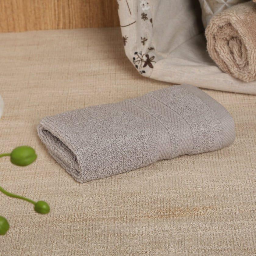 Antibacterial Face Towel, Grey – 30x30 cms