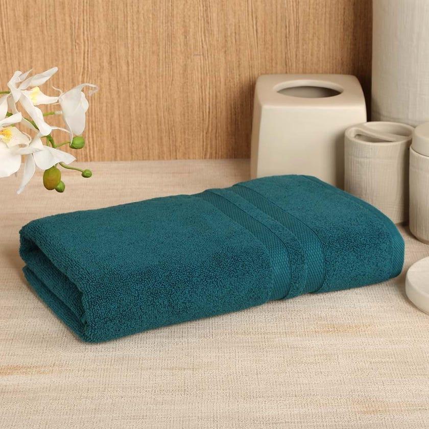 Antibacterial Bath Towel, Teal – 135x65 cms