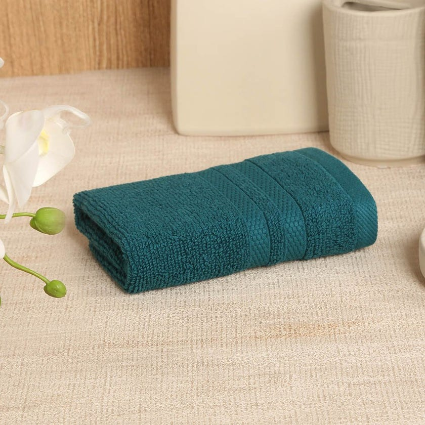 Antibacterial Face Towel, Teal – 30x30 cms
