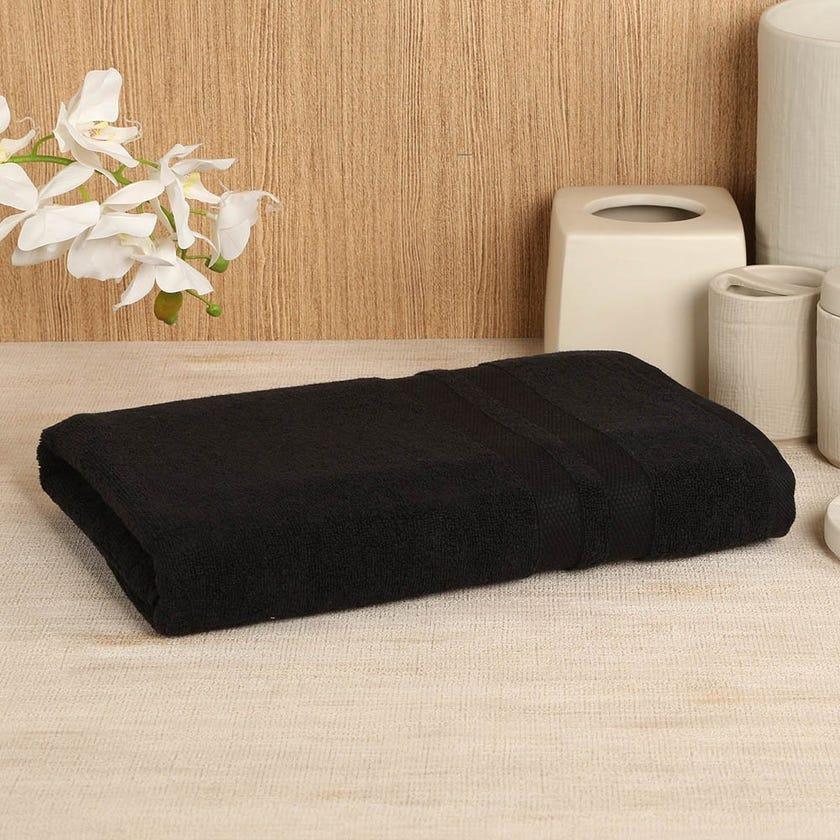 Antibacterial Bath Sheet, Black – 160x80 cms